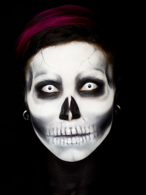 This is from my Skulltastic Makeup Tutorial