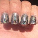 Bow-Worthy Holographic Nails