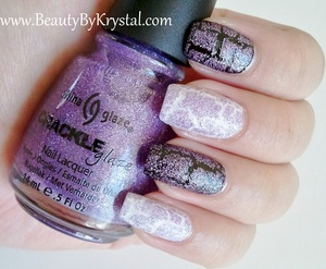 China Glaze Crackle Glitters - Luminous Lavender ELF Black ELF White