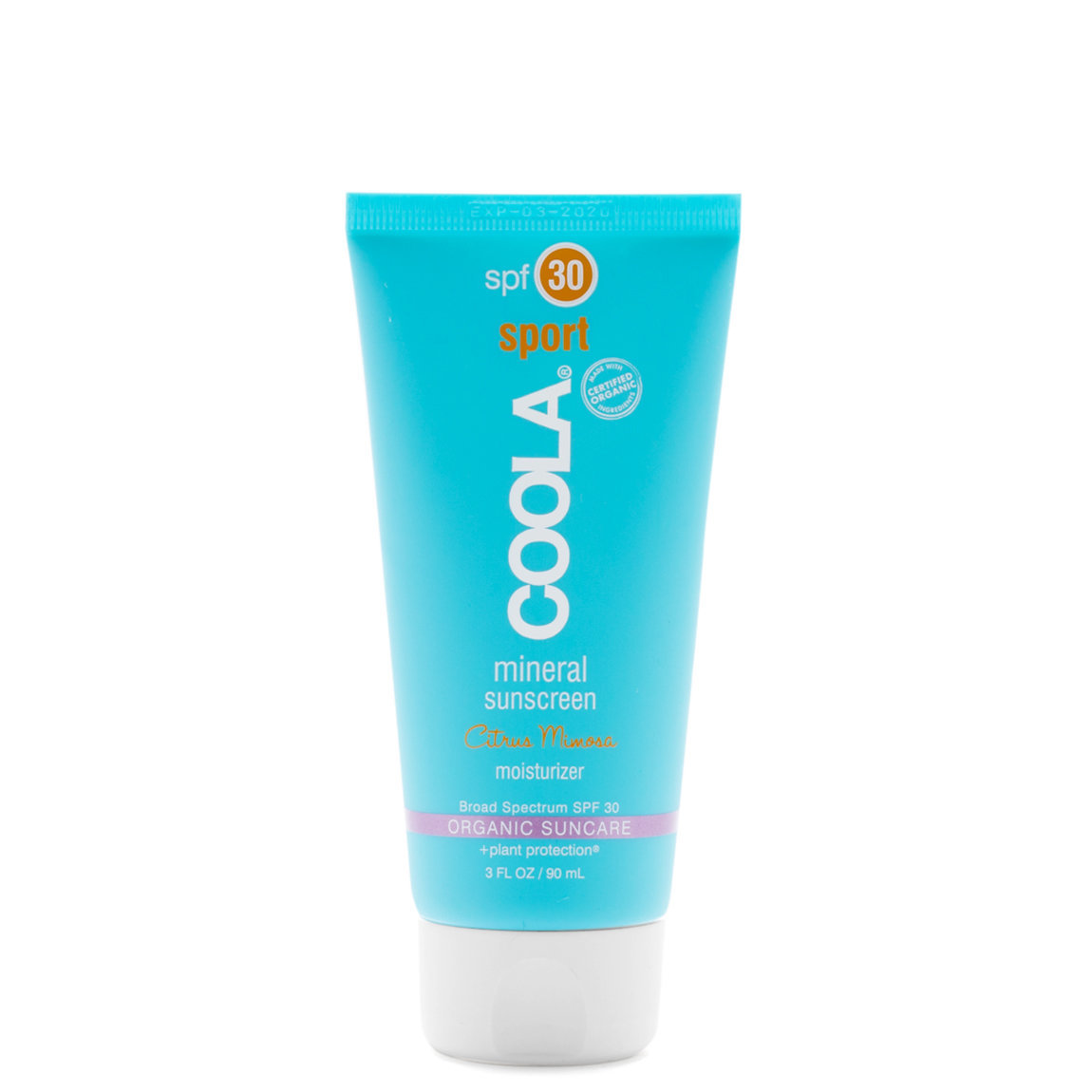 COOLA Mineral Sport Sunscreen Moisturizer SPF 30 - Citrus Mimosa product swatch.