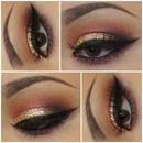 Cranberry/Glitter Look