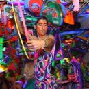 Hooping at Kenny Scharf's Cosmic Cavern