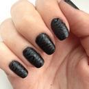 Black Glossy Zebra Print