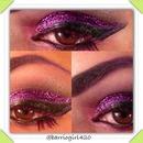 Purple Glitter Eyez