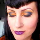 Black and Orange Eye Look