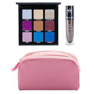Mini Controversy + Shane Velour Liquid Lipstick & Pink Double Zip Bag