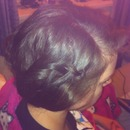 My first attempt of a waterfall braid on myslef:)
