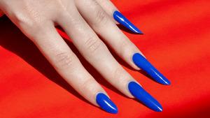 Yves Saint Laurent La Laque Couture Nail Lacquer in Bleu Majorelle Revlon top coat  More info here: http://bit.ly/1ahzuGx