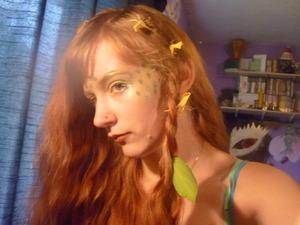 Funky mermaid makeup :D