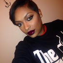 Smokey liner dark cherry lips