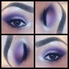 purple smokey eye pictorial