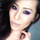 Asian make up. Bright eyeshadow