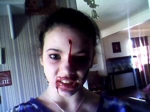 my niece jordyn as a zombie :)