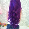 purple mermaid curls