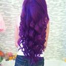 purple mermaid curls