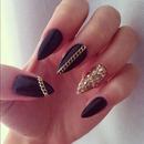Black and gold stilettos