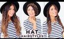 3 Cute Hat Hairstyles | Luxy Hair