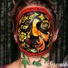 Russian khokhloma style makeup