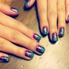 Ombre with glitter