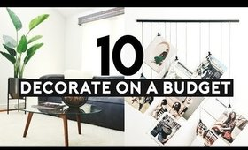 10 Tips How To Decorate On A Budget 2019 | Nastazsa