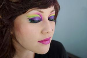 This is a tutorial image of my Mardi Gras inspired tutorial! You can find it here: http://www.beautylish.com/a/vciui/how-to-mardi-gras-makeup