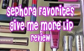 HOLIDAY GIFT GUIDE - Sephora's Give Me More Lip Review & Price Break down