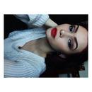 Smokey eye and red lip