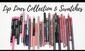 LIP LINER COLLECTION AND LIP SWATCHES - DRUGSTORE & HIGH END