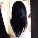 Perfectly black hair