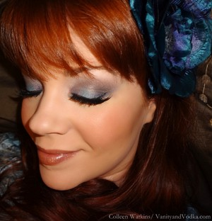 Dreamy Delicate Blues using a really crappy eyeshadow palette.  Did my best to make it happen. More info at VanityandVodka.com