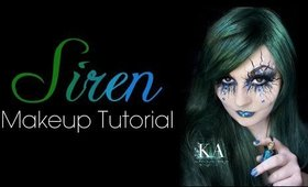 Siren/ Evil Mermaid Makeup Tutorial