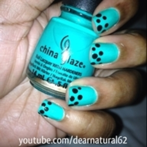 A cute french mani with dots