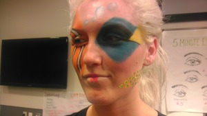 memo themed makeup at school. we won the contest