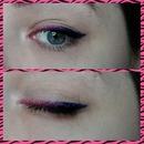 Pink and purple eyeliner