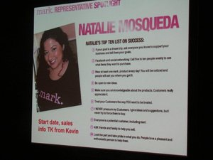 Natalie's Top Ten for success