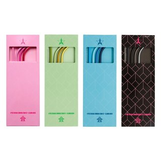 Jeffree Star Cosmetics Metal Straw 4-Pack Bundle