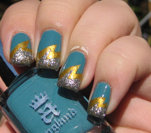 a-england lightning bolt - using (from cuticle to tip) Galahad, Holy Grail and Merlin