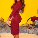 Simple Red Dress Outfit For A Night Out