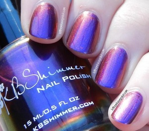 Sorry about my cuticles, this was the 12th swatch of the day. How amazing is this shade though?!!   More shifters here: http://www.letthemhavepolish.com/2014/01/kbshimmer-winter-2013-multichromes.html#more