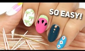 Nail Art For Beginners Using A TOOTHPICK! #2