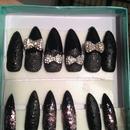 Black matte leopard stiletto claws