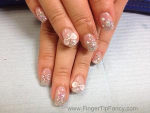 FOR DETAILS GO TO:  http://fingertipfancy.com/silver-glitter-ab-swarovski-rhinestone-nails
