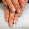 Silver glitter with AB swarovski rhinestone nails