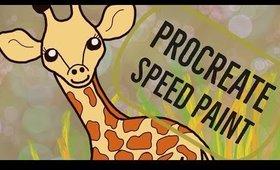 PROCREATE SPEED PAINT Giraffe Illustartion