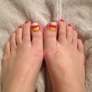 candy corn toes