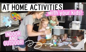 FUN ACTIVITIES TO DO AT HOME WITH YOUR KIDS | 3 YEAR OLD TWINS | Kendra Atkins