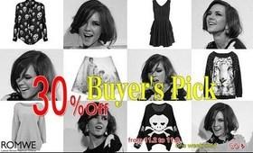 Romwe's Buyer's Pick Sale (November 2 - 8)