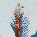 White hair & palm trees