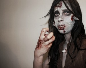 Just practicing zombie makeup for Halloween.