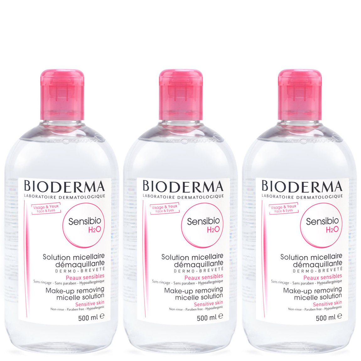Bioderma Sensibio H2O 500 ml Trio product smear.